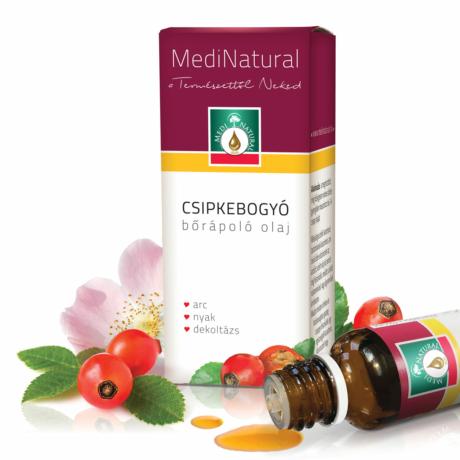 Csipkebogyó hidegen sajtolt bőrápoló olaj 20 ml - Medinatural